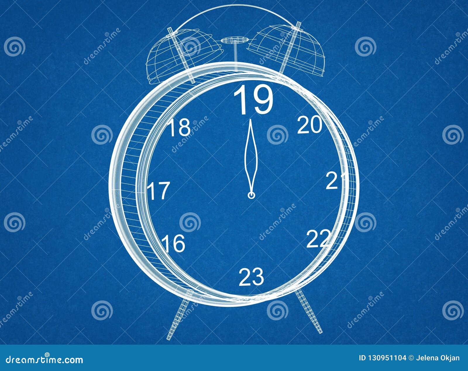 New Year countdown Clock Blueprint