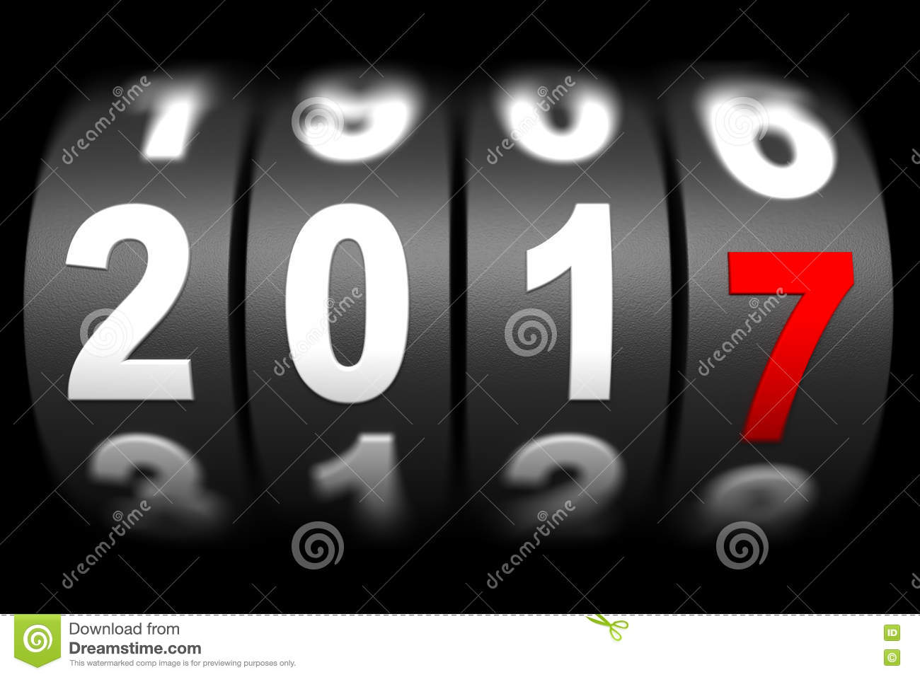 2017 New Year Countdown Timer Stock Illustration ...