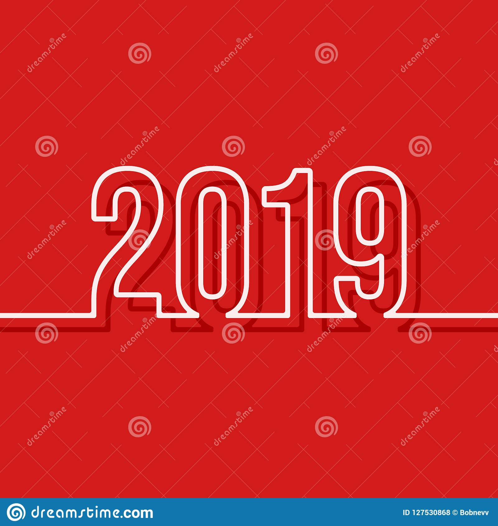 2019 new year cover template minimal design background