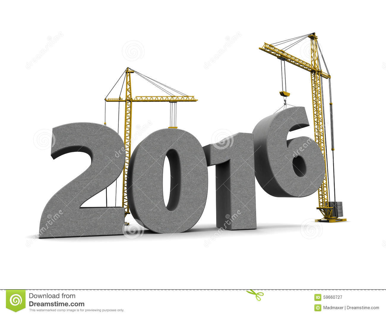 2016 new year stock illustration illustration of built 59660727