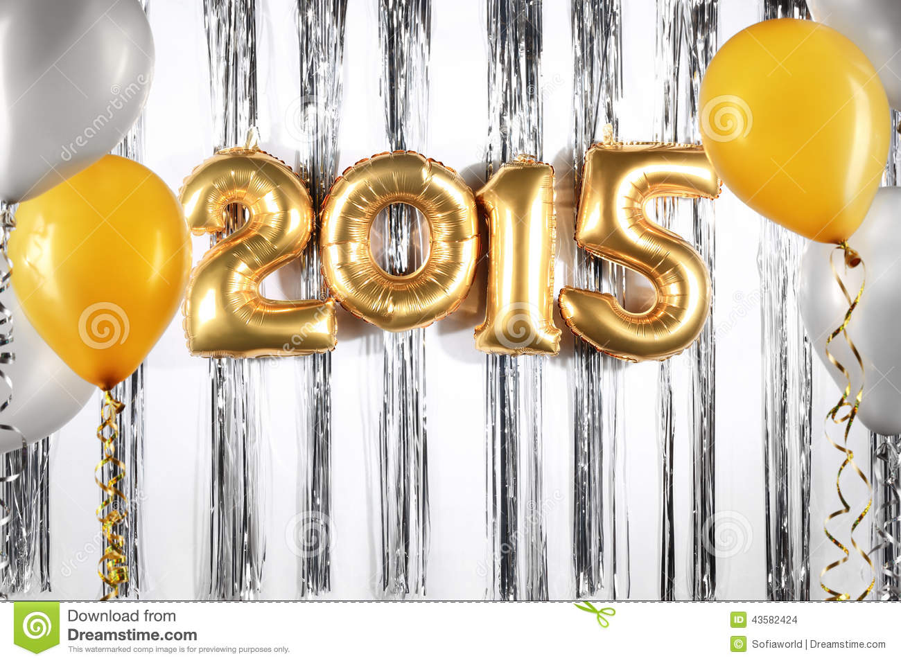 New Year 2015 Stock Photo Image Of Decorative Silver 43582424