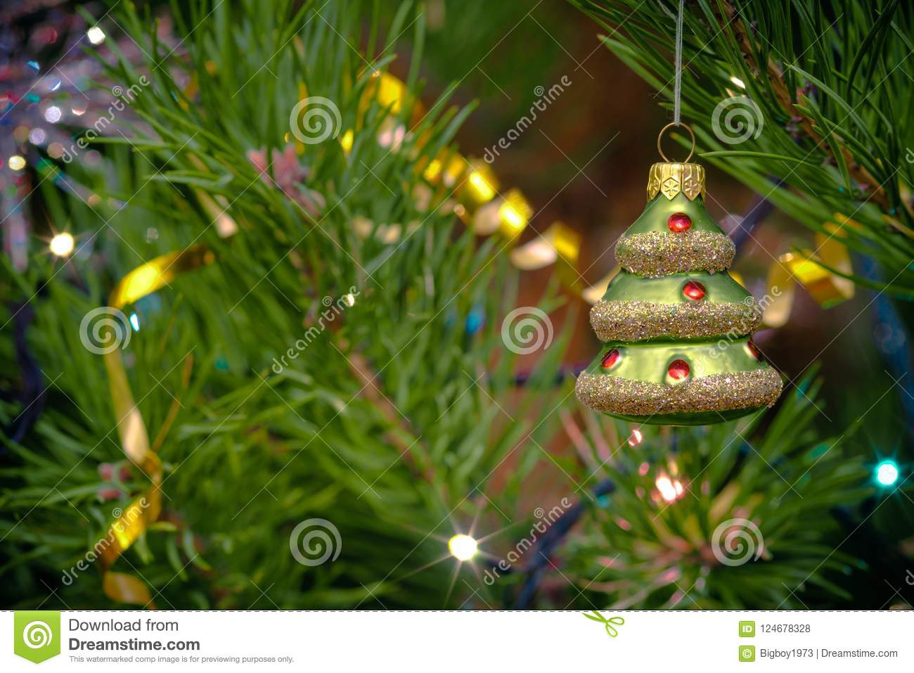Christmas Toys On The Christmas Tree. Stock Photo - Image of hanging ...