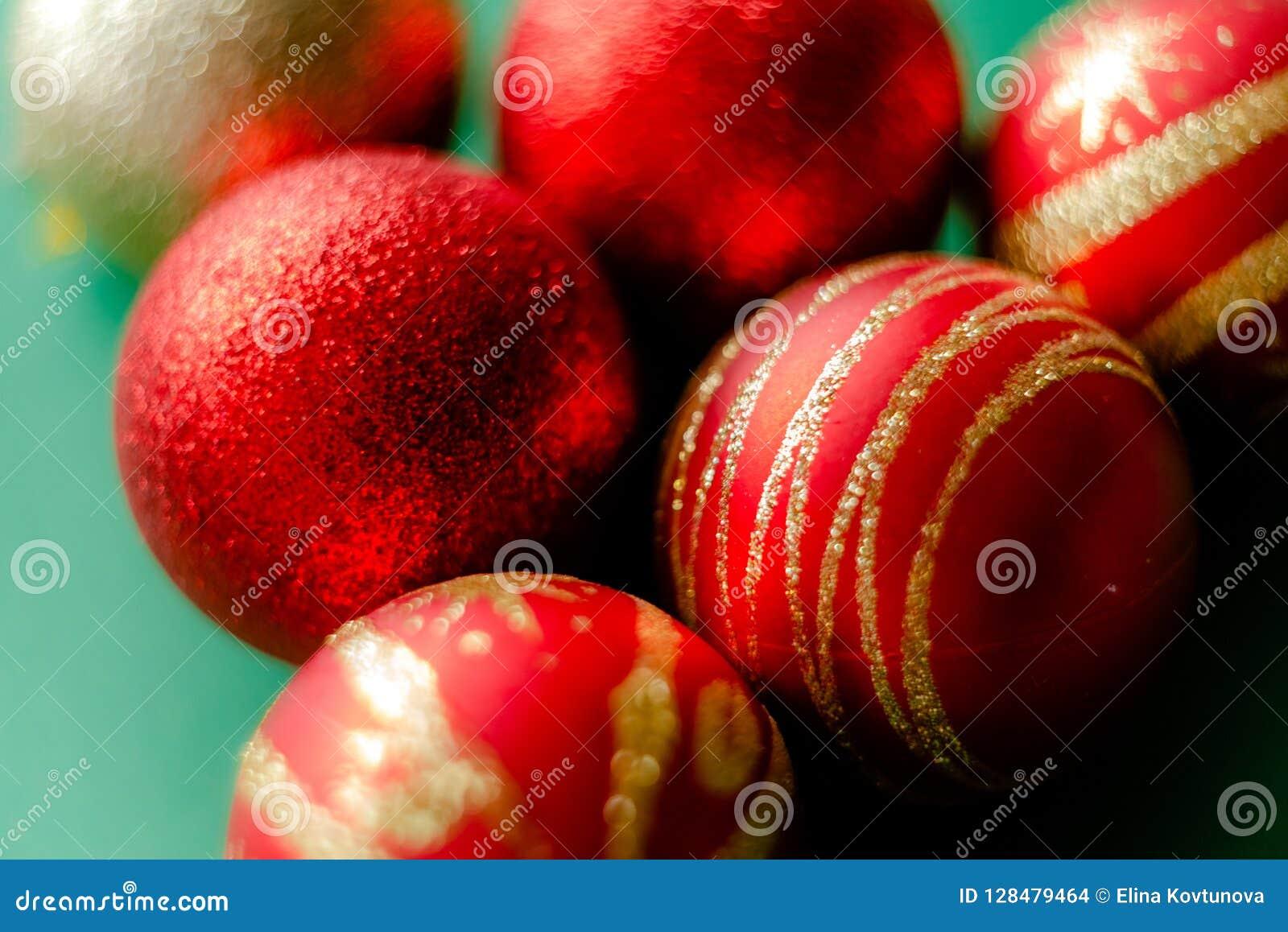 New Year Decorations Christmas Balls Stock Photo - Image ...