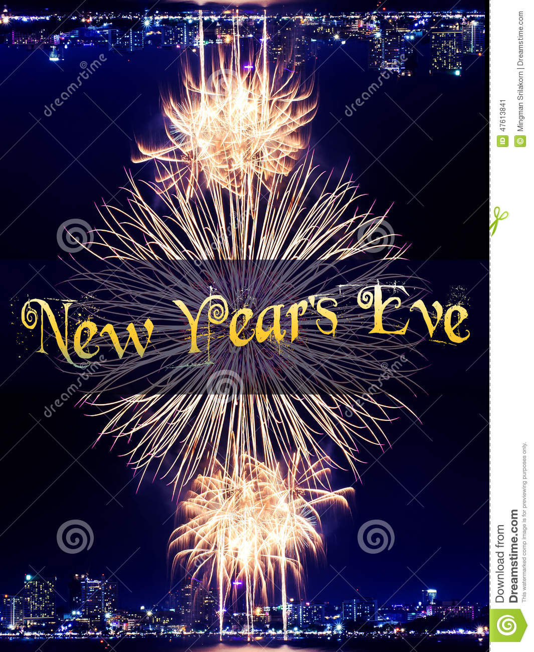 new year 2015 and firework background stock image image