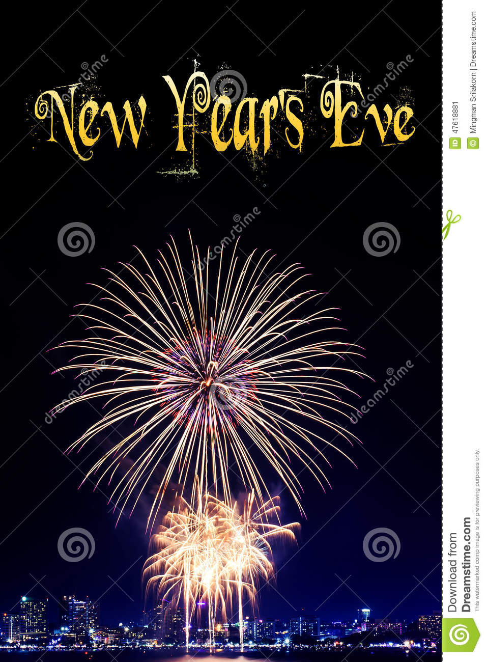 new year 2015 and firework background stock photo image