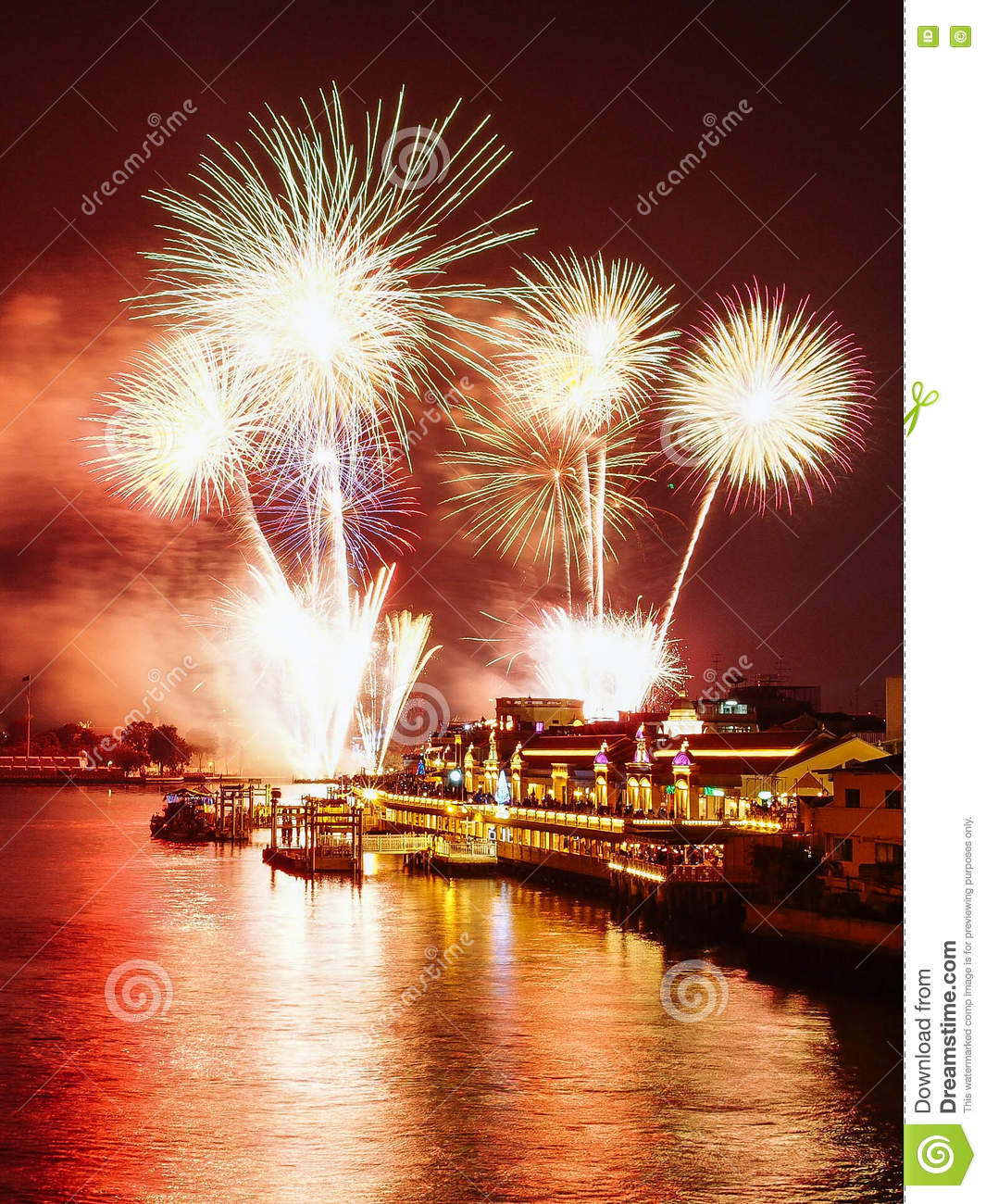happy new year 2016 thailand firework
