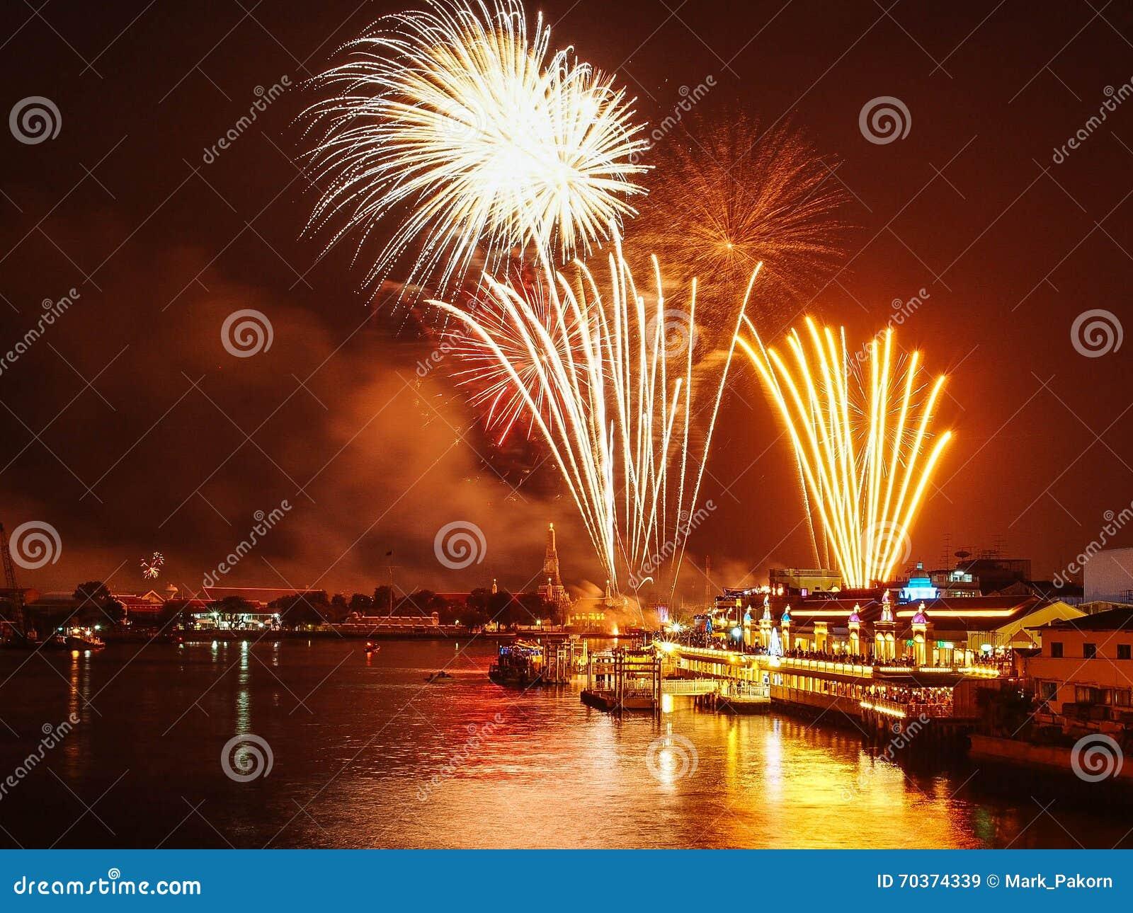 happy new year 2016 thailand firework