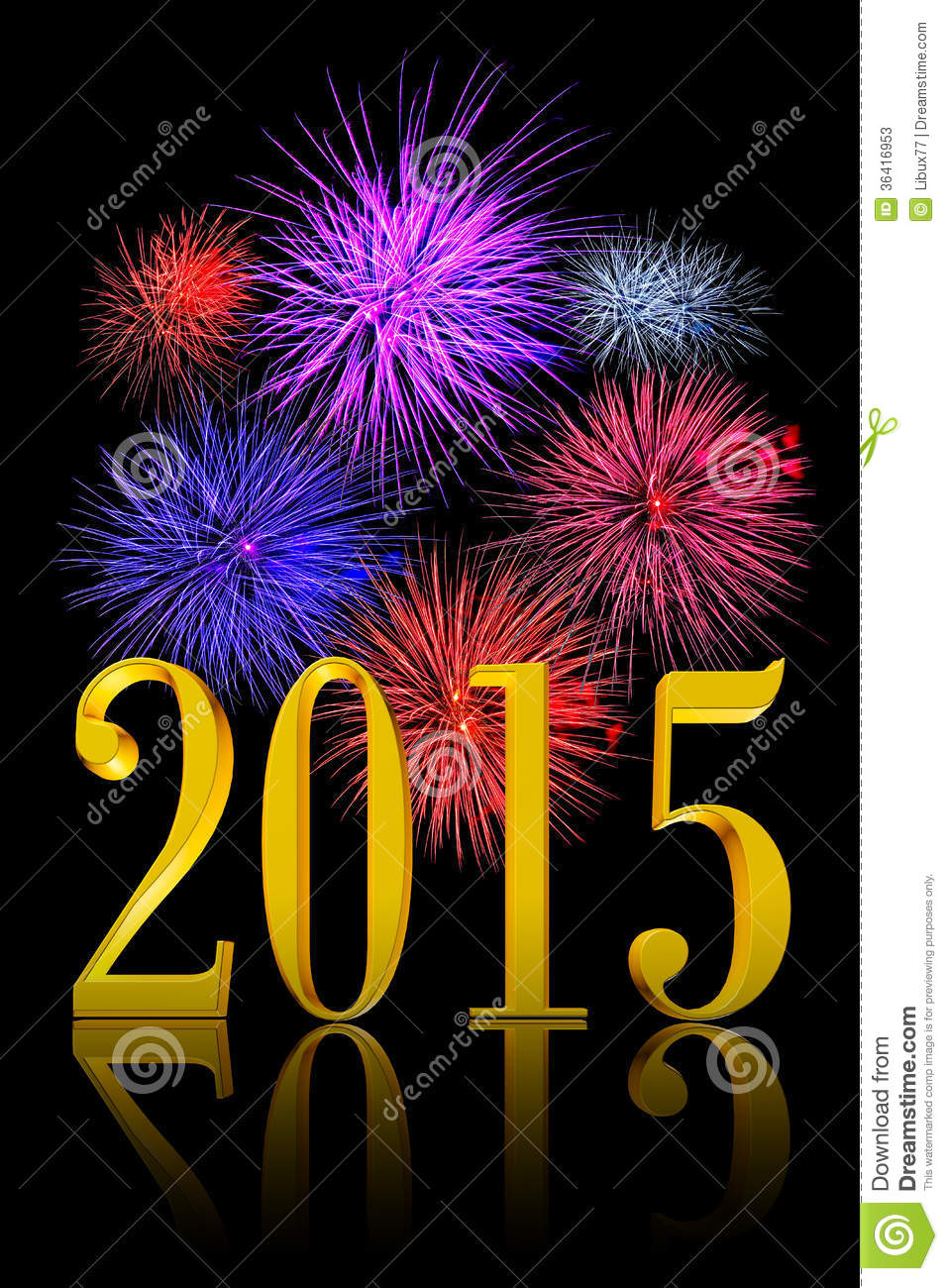 new year 2015 fireworks stock photos image 36416953