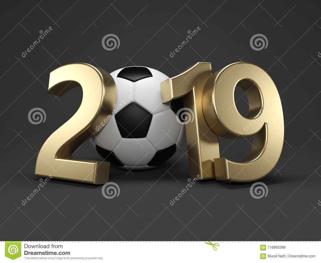 Football Calendar 2019 New Year 2019 With Football Stock Illustration   Illustration of