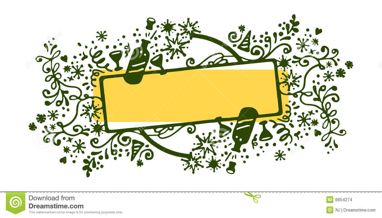 New Year Frame Stock Vector Illustration Of Champagne 6654274