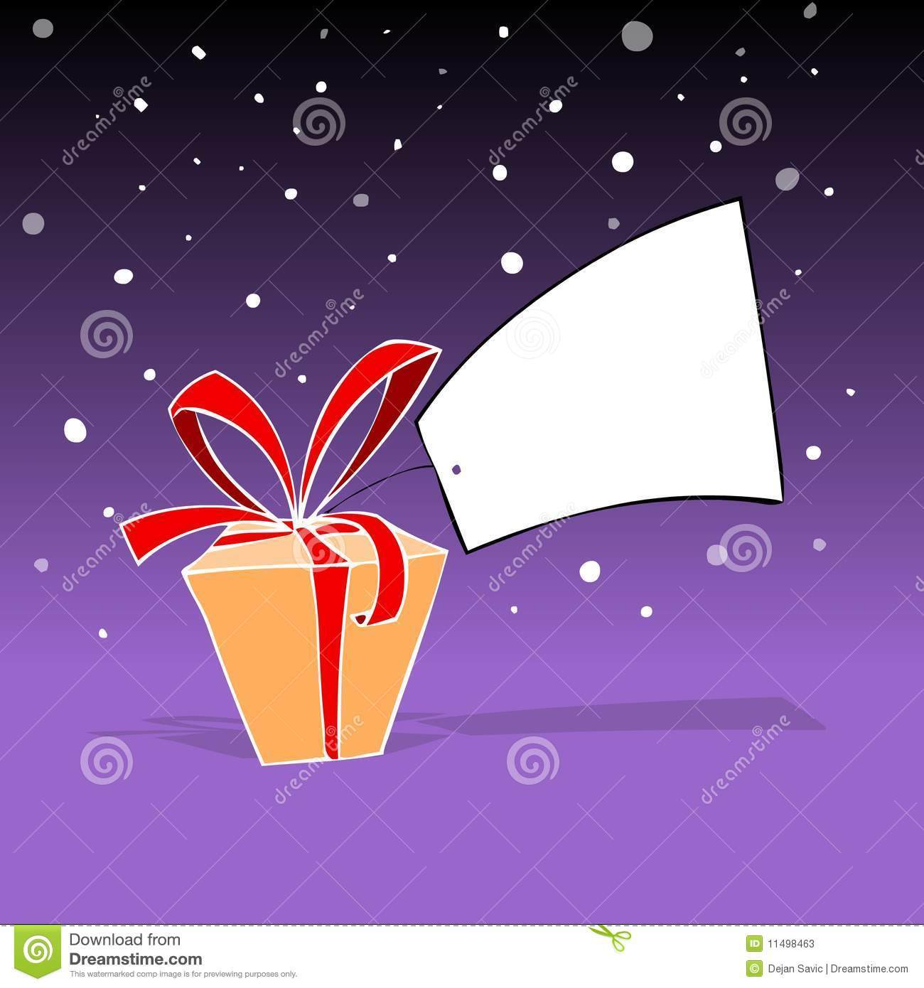 Download New year gift box stock illustration. Illustration of drawing - 11498463