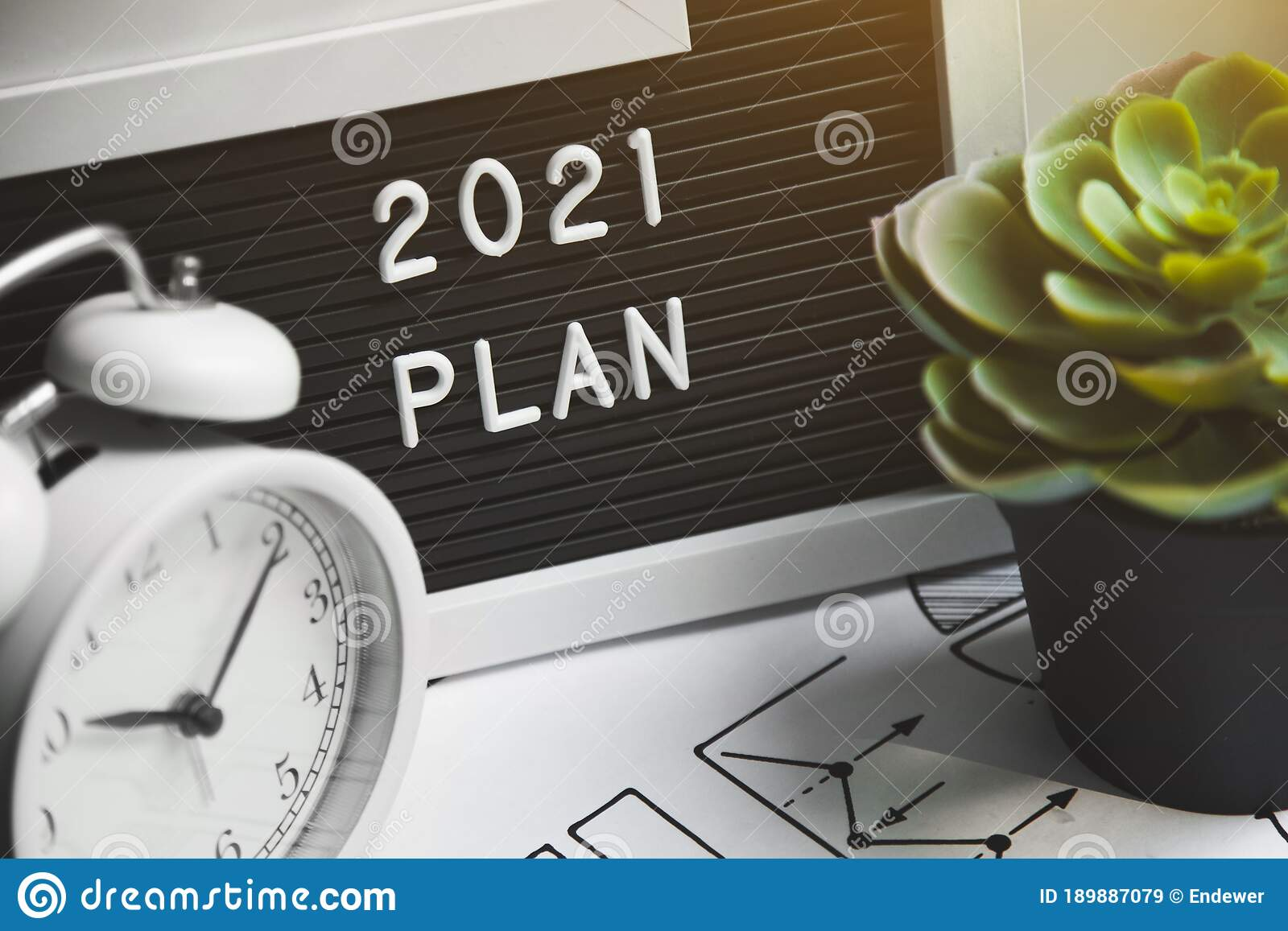 12 New Year Goal, Plan, Action. Office Accessories. Business