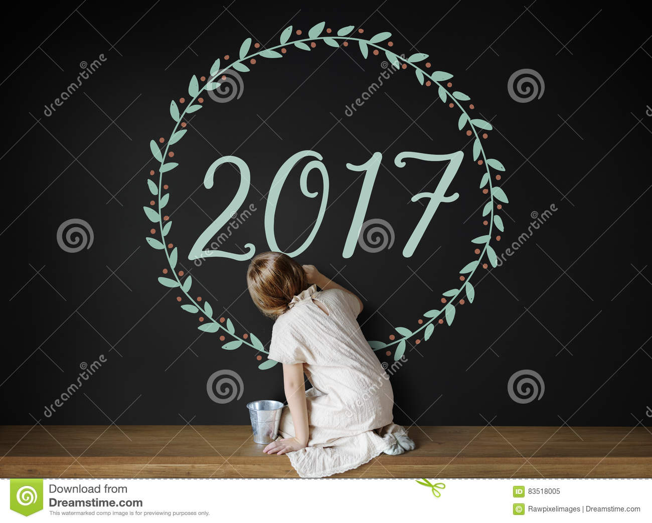 New Year 2017 Graphic Design Concept