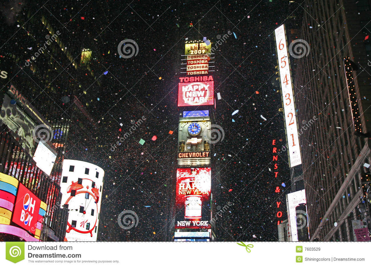 New Year Greeted at Times Square