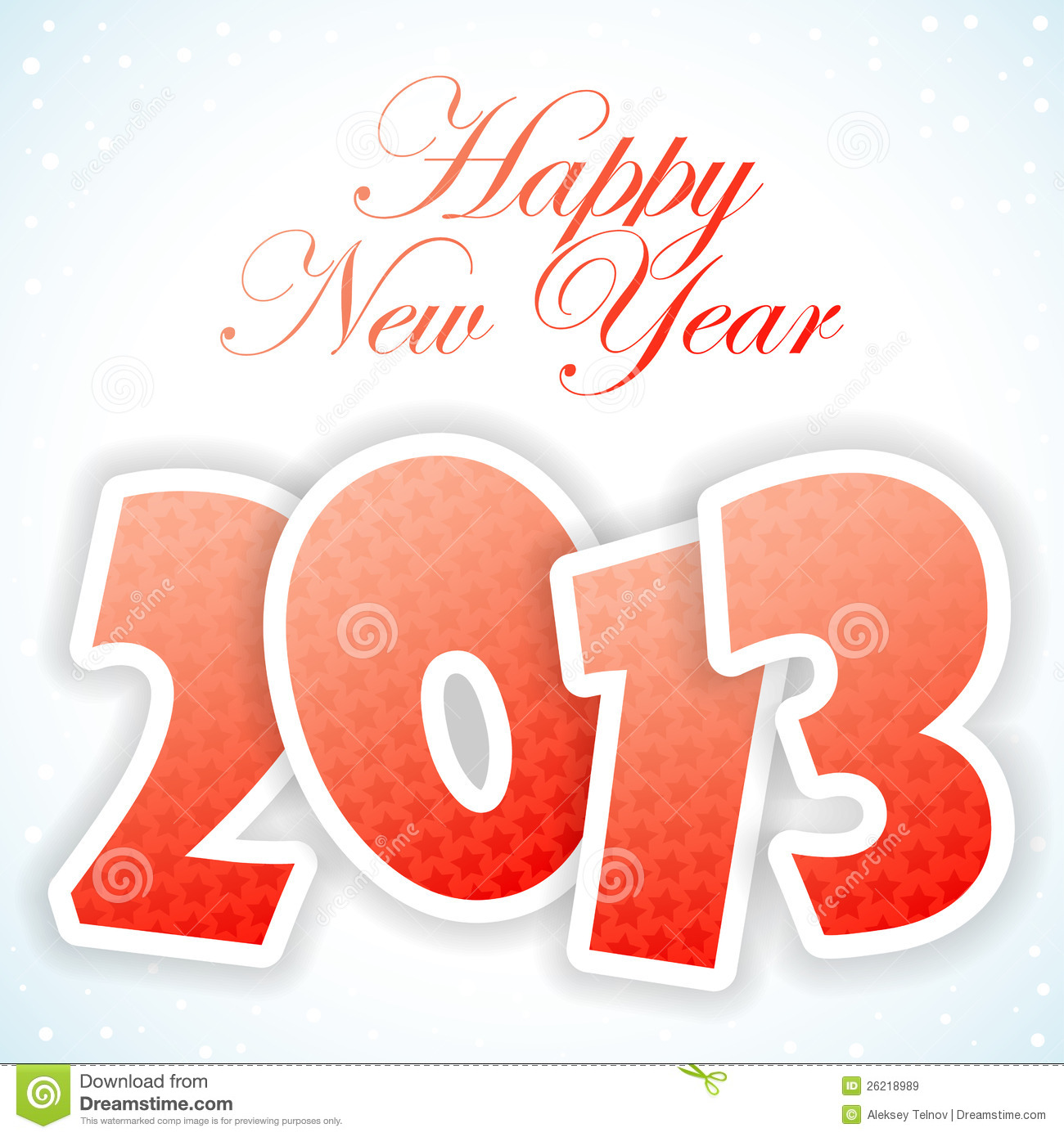 New Year Greeting Card Stock Vector Illustration Of Wallpaper