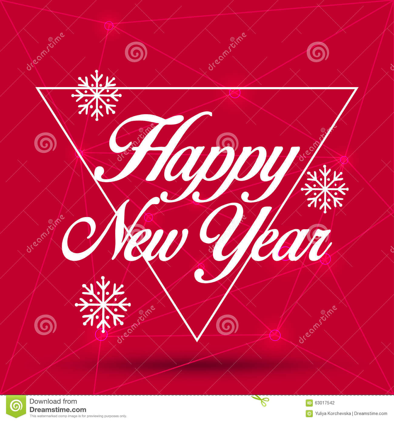 New Year Greeting Card Happy New Year 2016 Vector Illustration