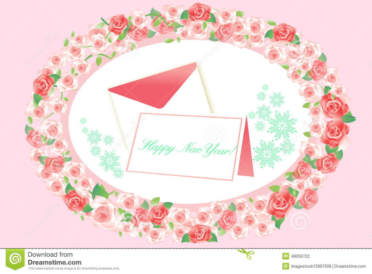 New Year Greeting Card And Letter Eps10 Vector Stock Vector