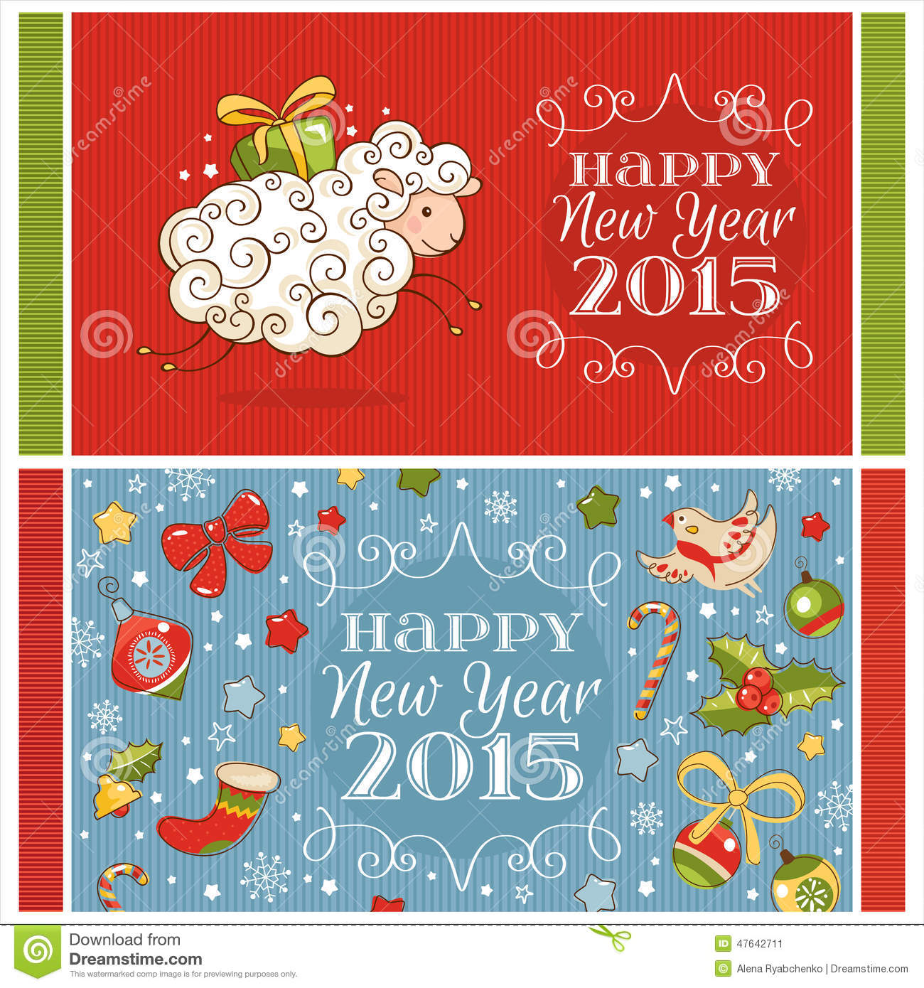 New year greeting cards stock vector illustration of ribbon 47642711 download new year greeting cards stock vector illustration of ribbon 47642711 m4hsunfo