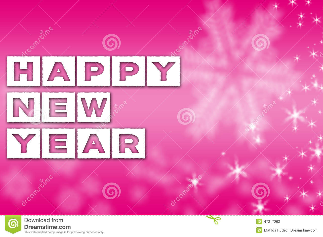 new year greeting pink background