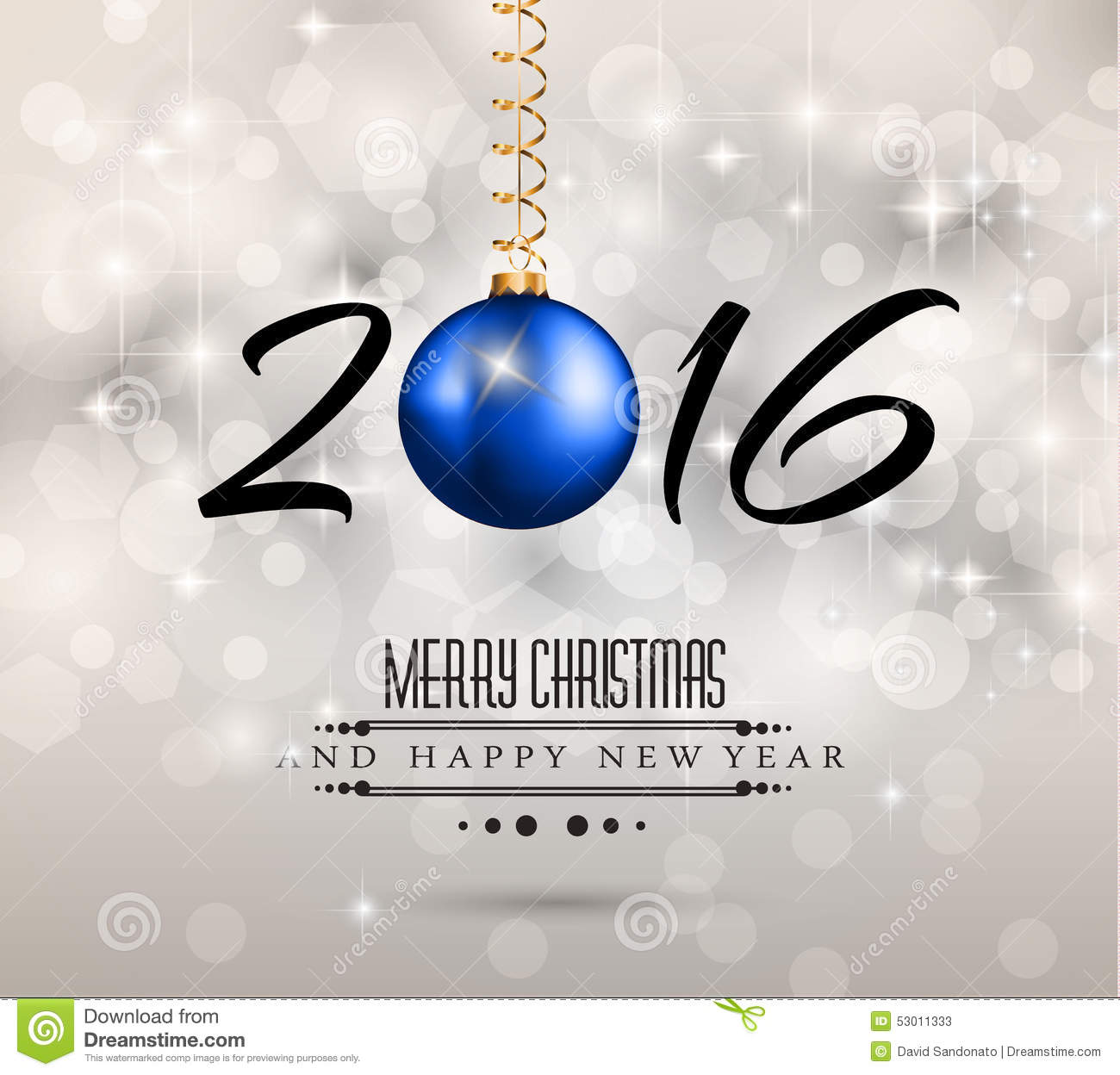 2016 New Year And Happy Christmas Background For Your Flyers, Stock ...
