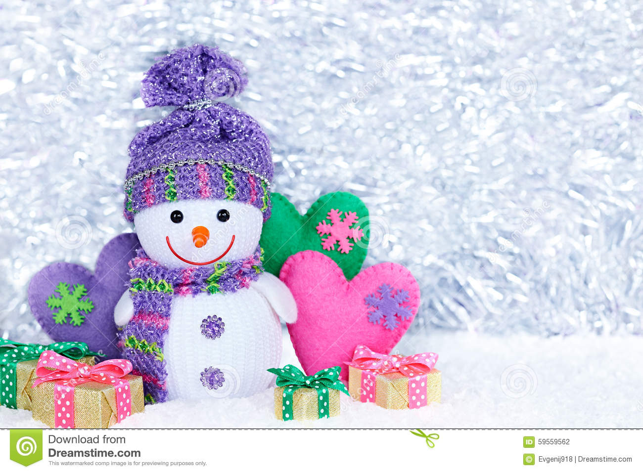 New Year 2016. Happy Snowman On Snow. Party Decoration Stock Photo - Image: 5...