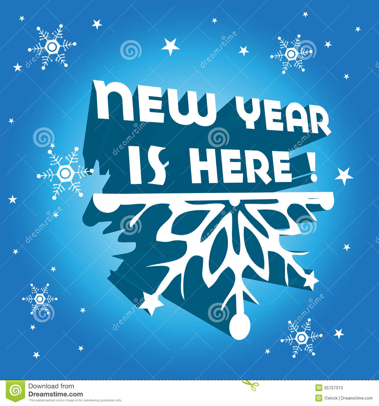 New Year Is Here Stock Vector  Image Of Greeting  Half