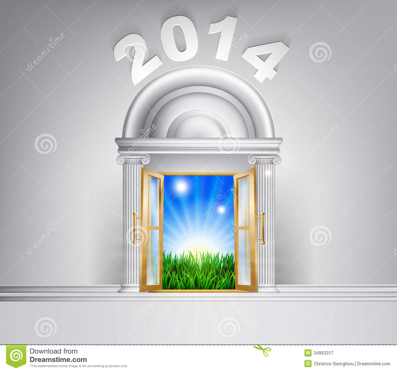 New Year Hope Door Concept 2014 Stock Vector - Illustration of ...