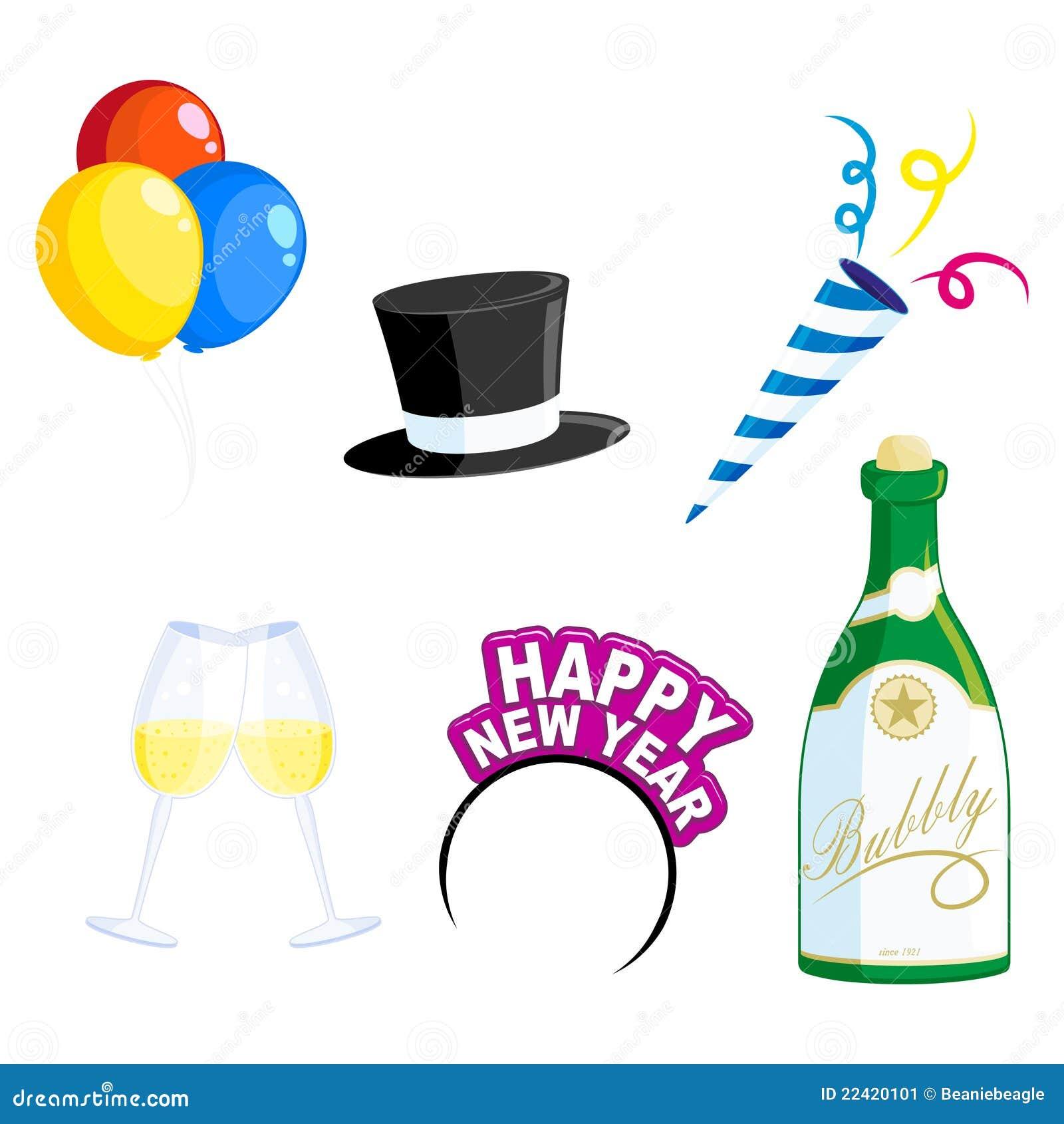 New Year Icons Stock Image - Image: 22420101