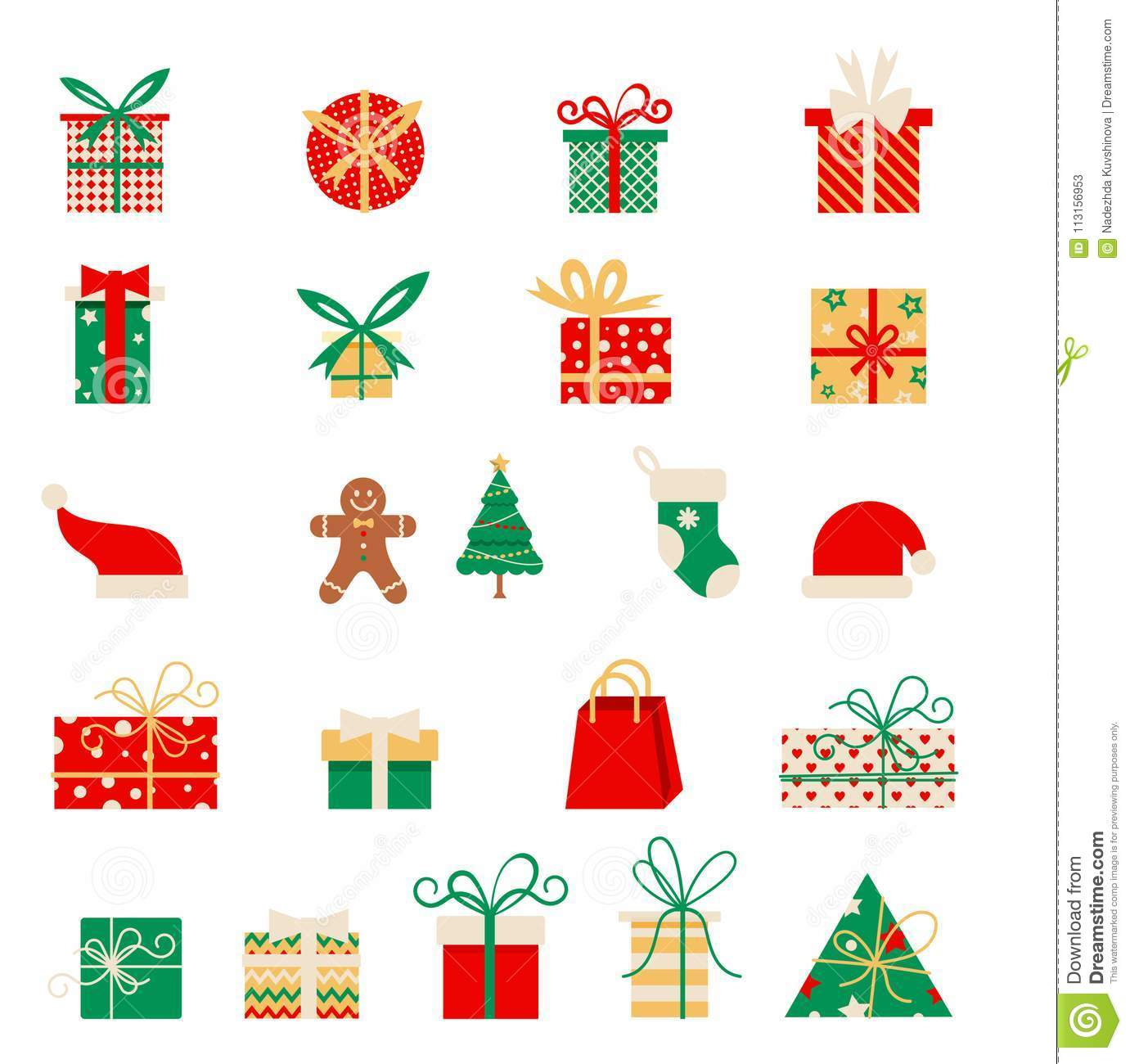 new year icons set of christmas elements in a flat style vector cartoon flat design stock vector illustration of ornament decoration 113156953 https www dreamstime com new year icons set christmas elements flat style vector cartoon flat design vector set different gift boxes new year image113156953