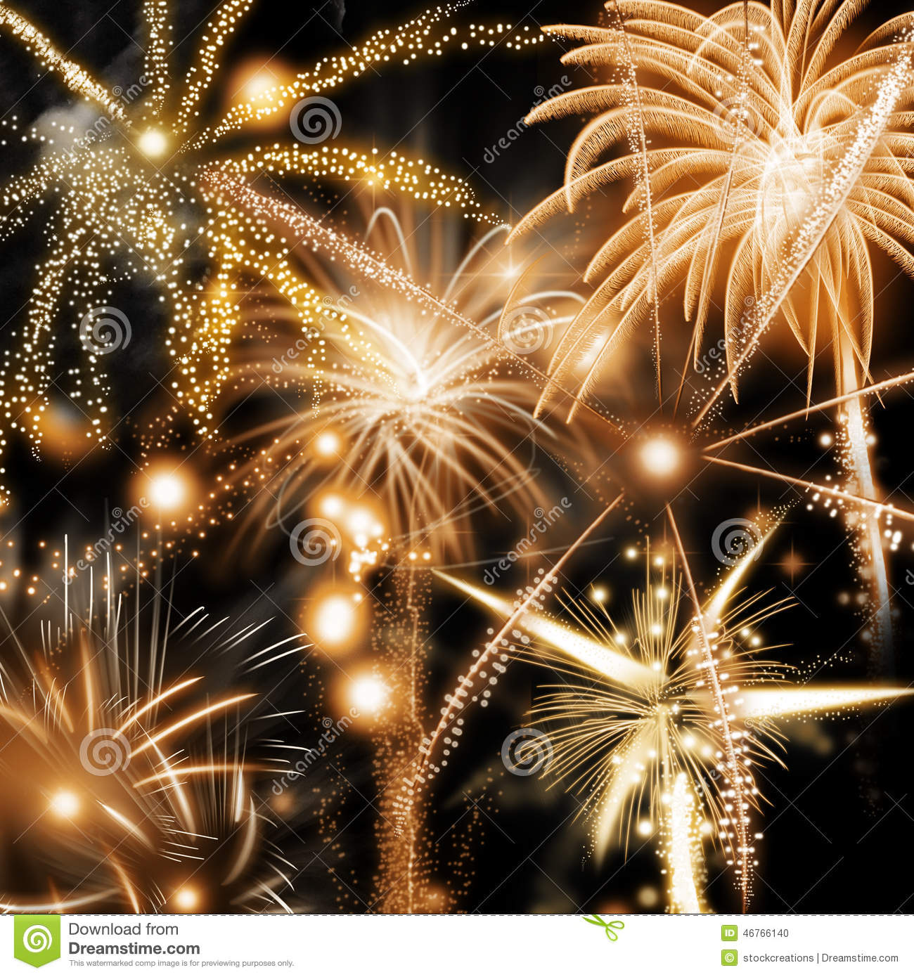 new year or independence day fireworks background