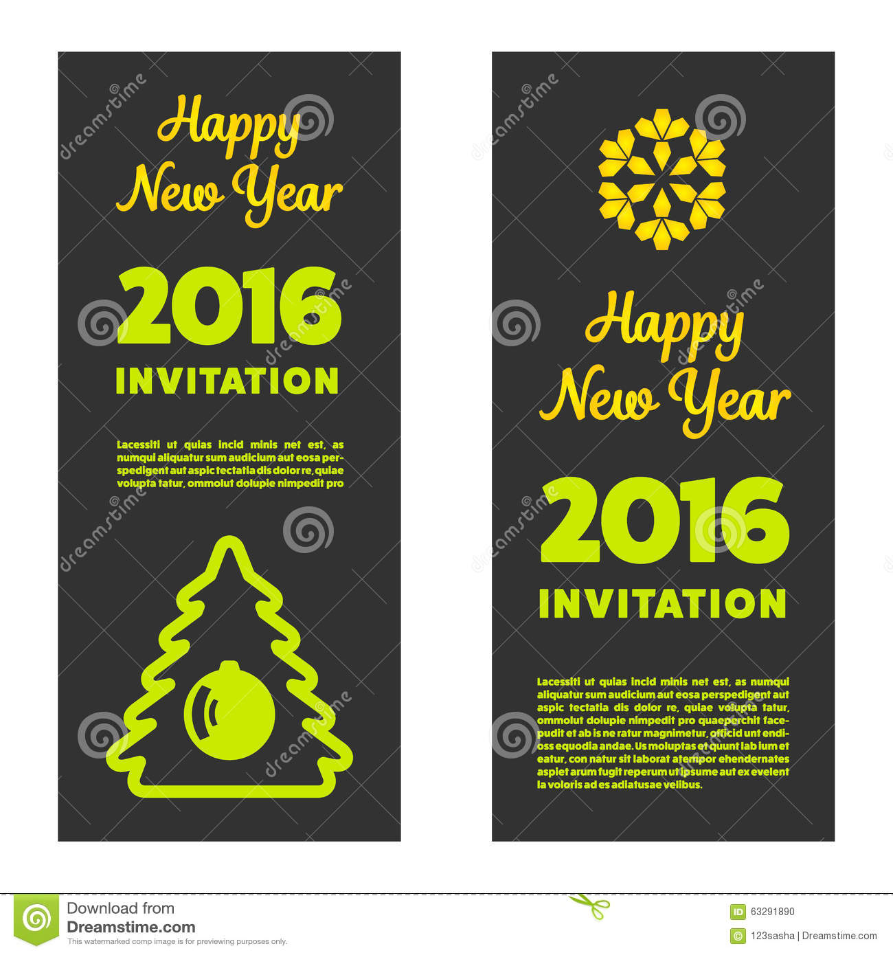 new year invitation 2016 stock photo image 63291890. Black Bedroom Furniture Sets. Home Design Ideas