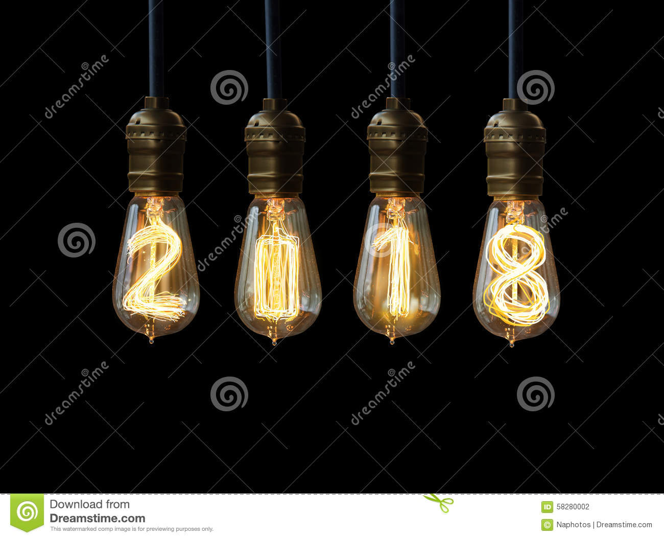 Download New year 2018 stock illustration. Illustration of design - 58280002