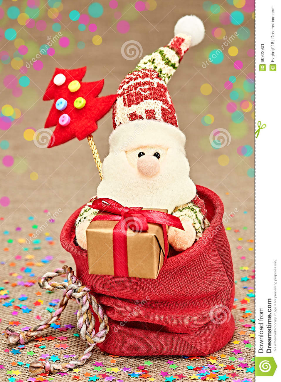 New Year 2016. Merry Christmas. Santa Claus and