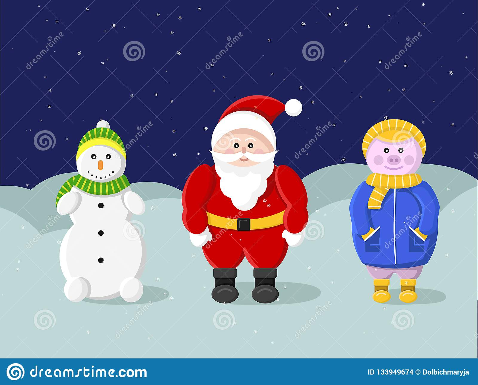 New year and Merry Christmas. Santa Claus
