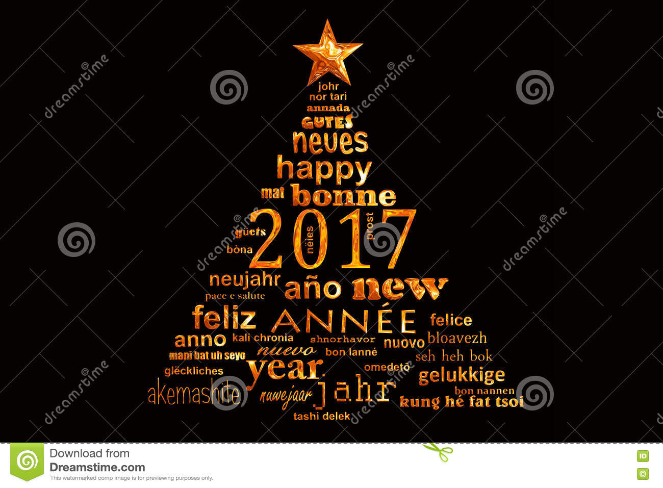 2017 new year multilingual text word cloud greeting card shape of a 2017 new year multilingual text word cloud greeting card shape of a christmas tree translation shiny kristyandbryce Images