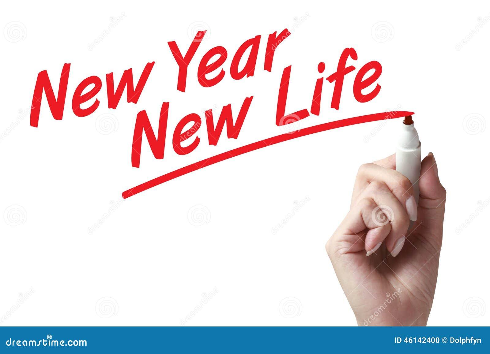 New year new life stock photo. Image of writing, life - 46142400