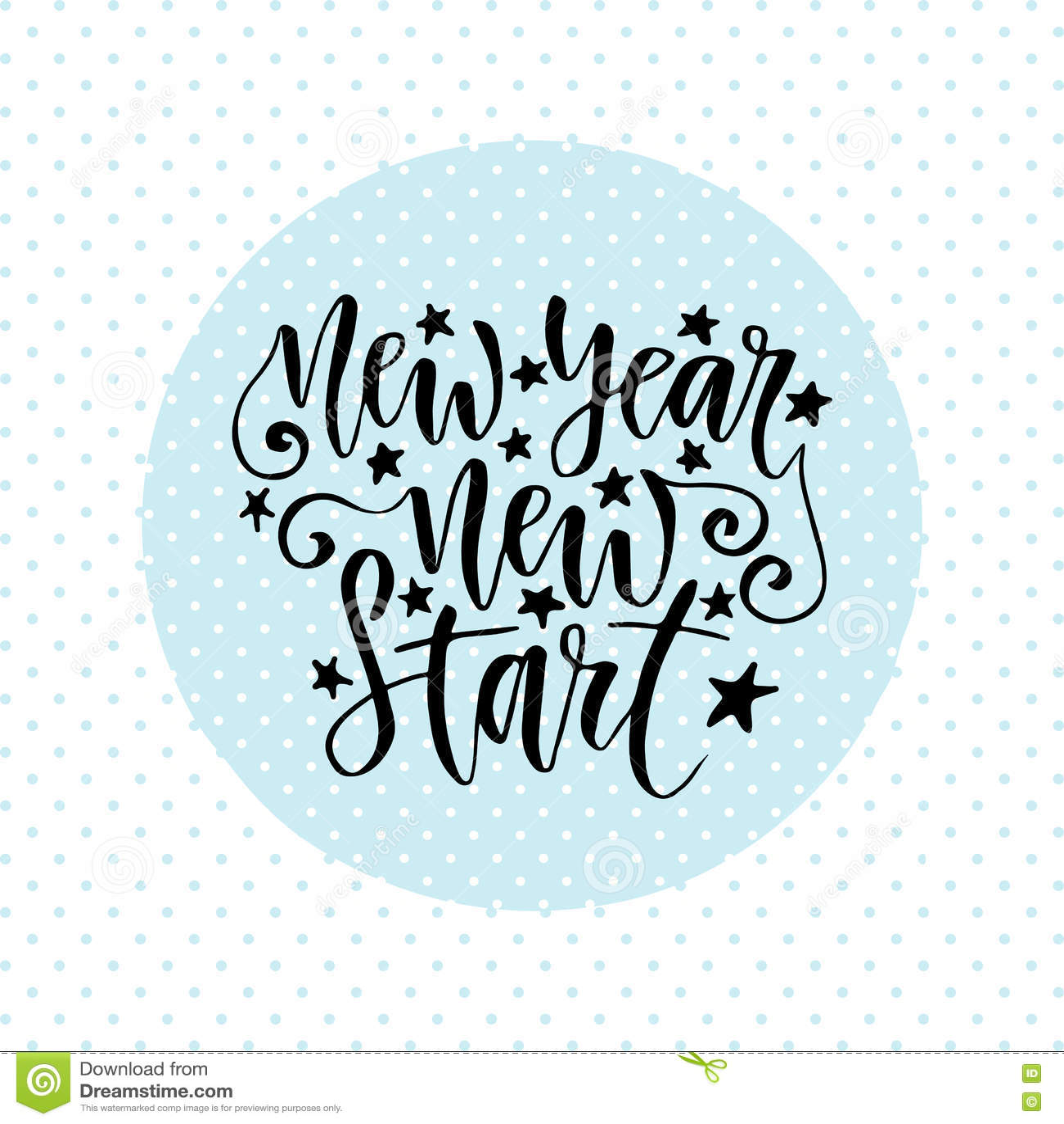 new year new start inspirational and motivational handwritten