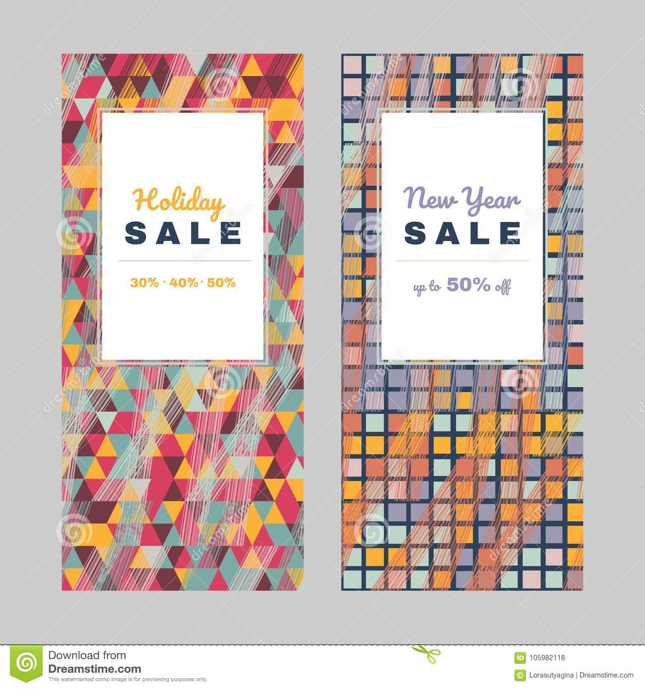 New Year Offer. Holiday Set Shopping Sale Design Stock ...