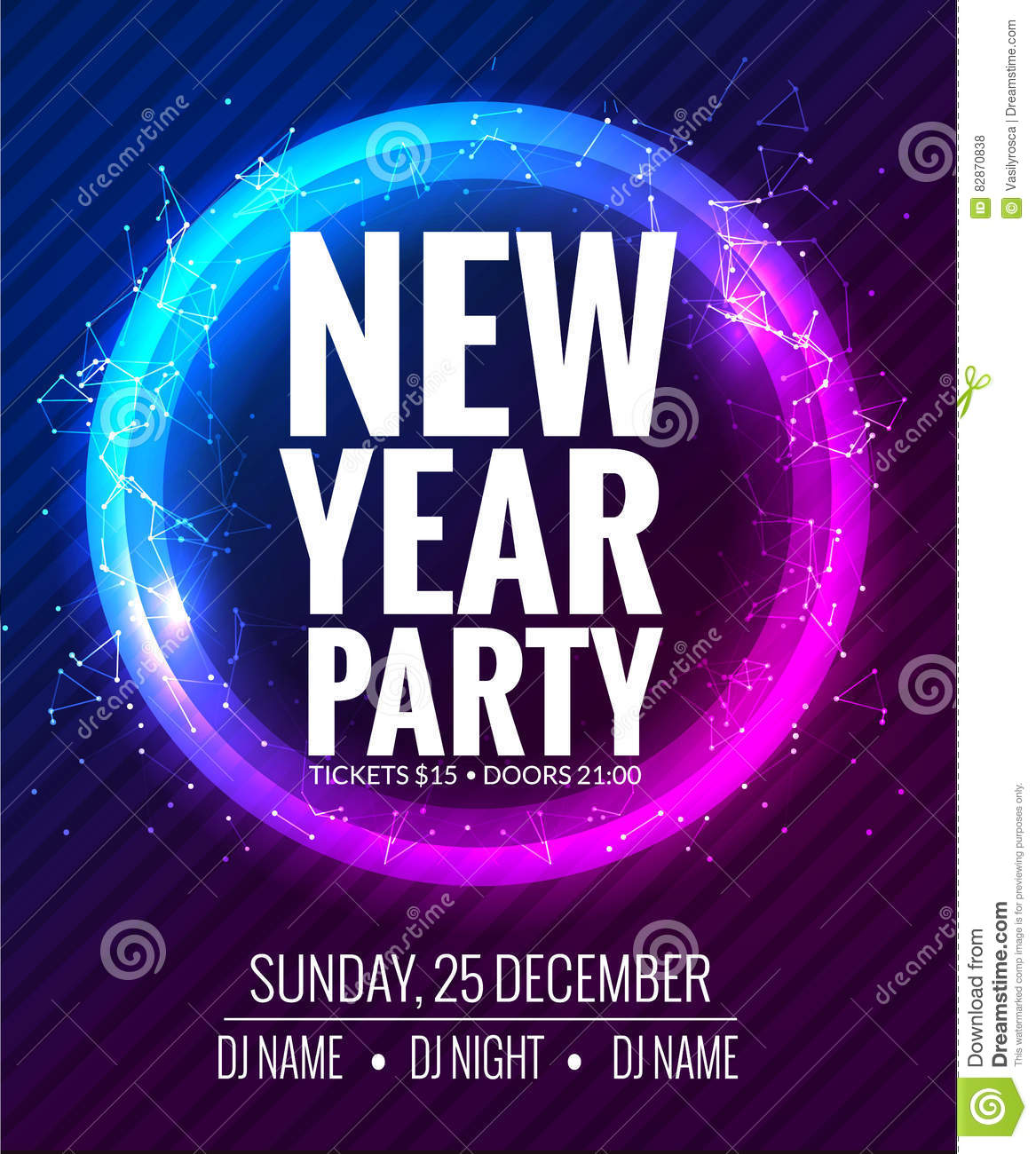 new year party and christmas party poster template design disco night banner flyer new year holiday celebration invitation