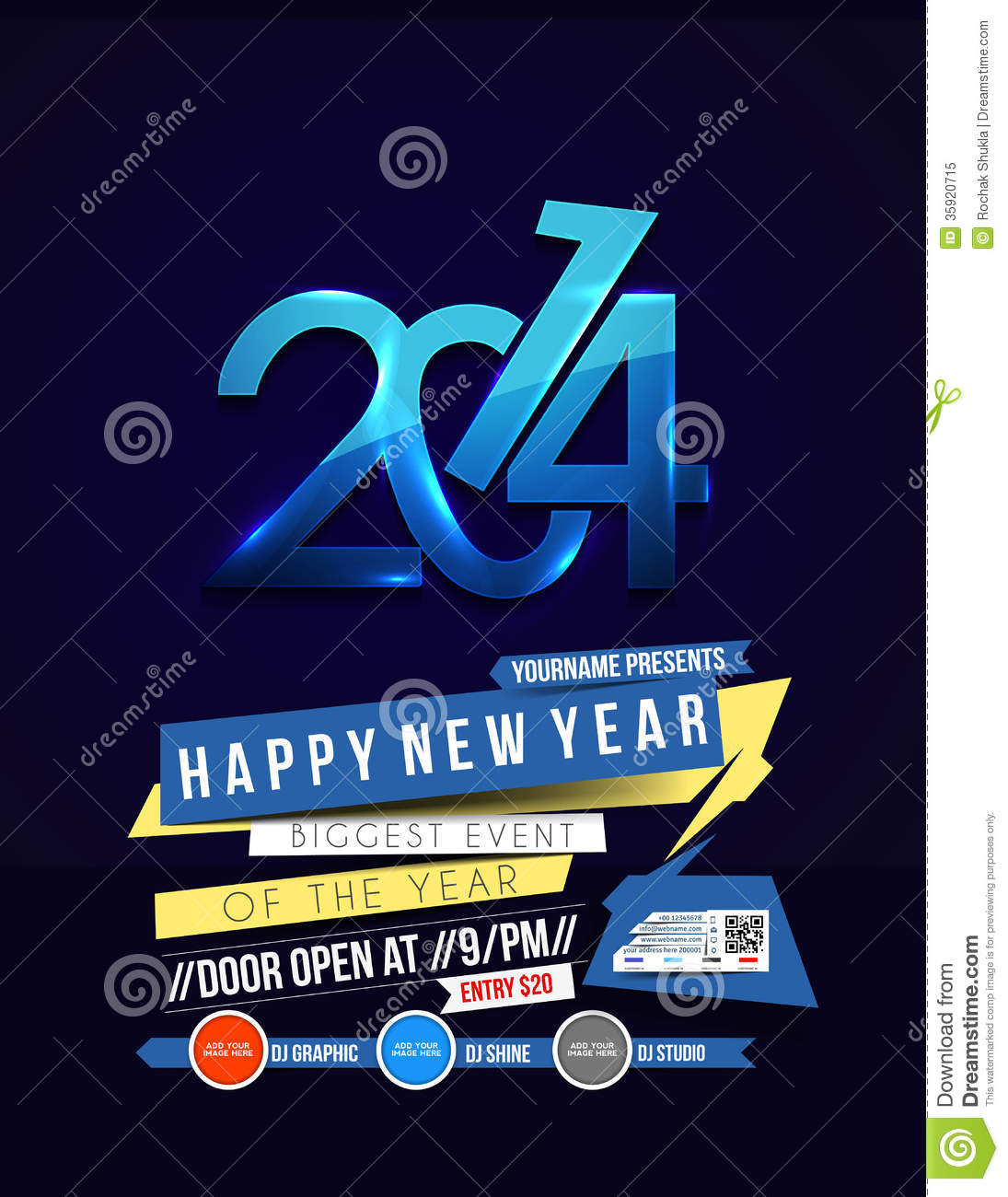 New Year Party Flyer Royalty Free Photo Image 35920715 – New Year Poster Template