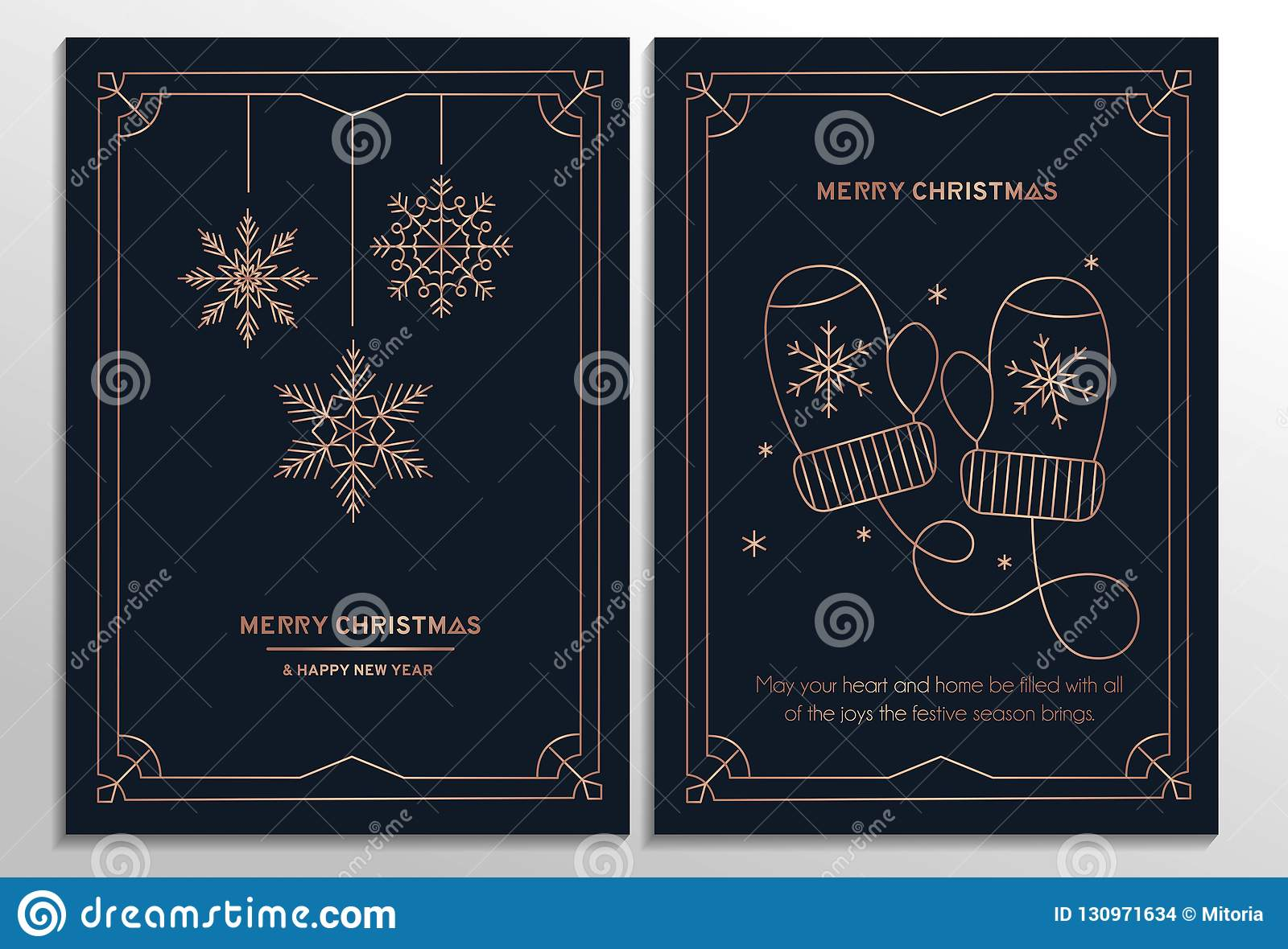 New Year Party Invitation Cards With Rose Gold Geometric