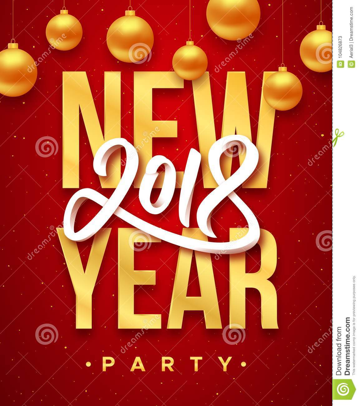 new year 2018 party invitation