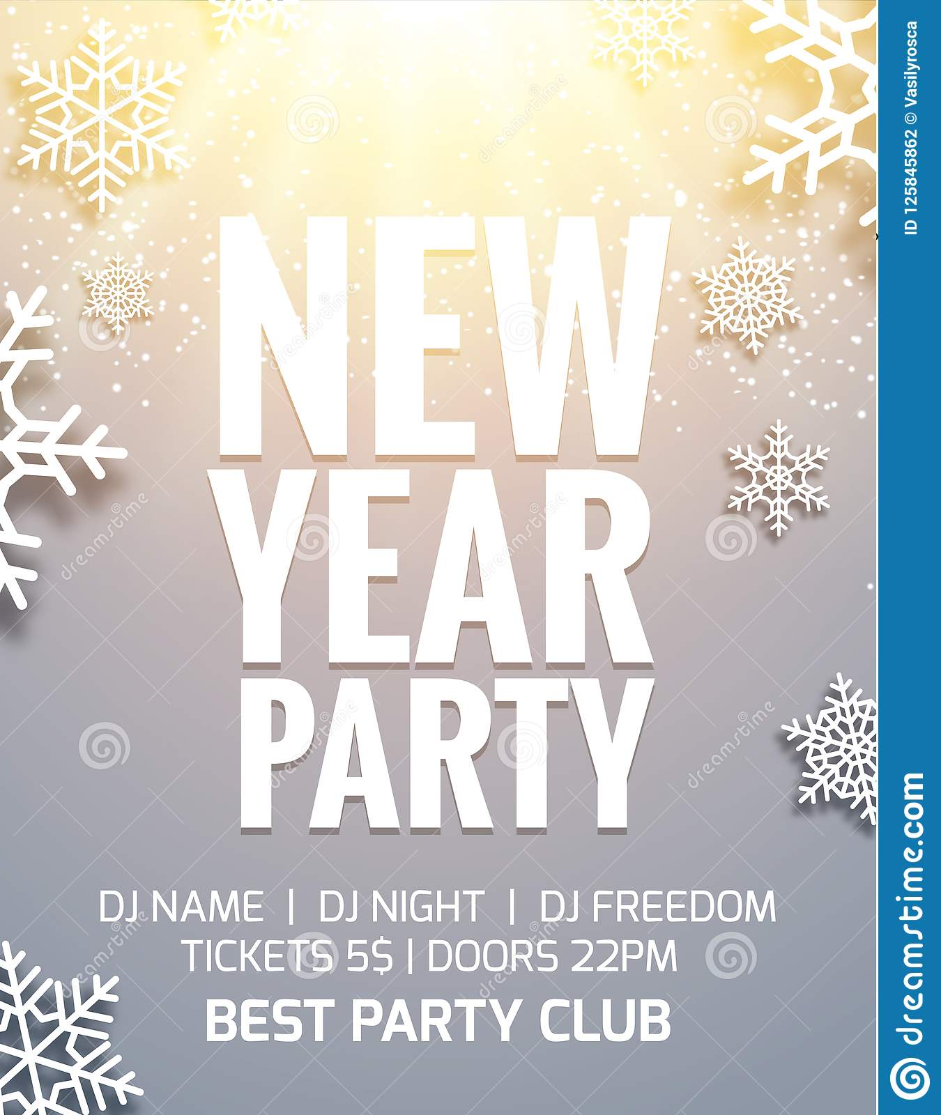 new year 2018 party poster invitation decoration design dance disco new year holiday template background