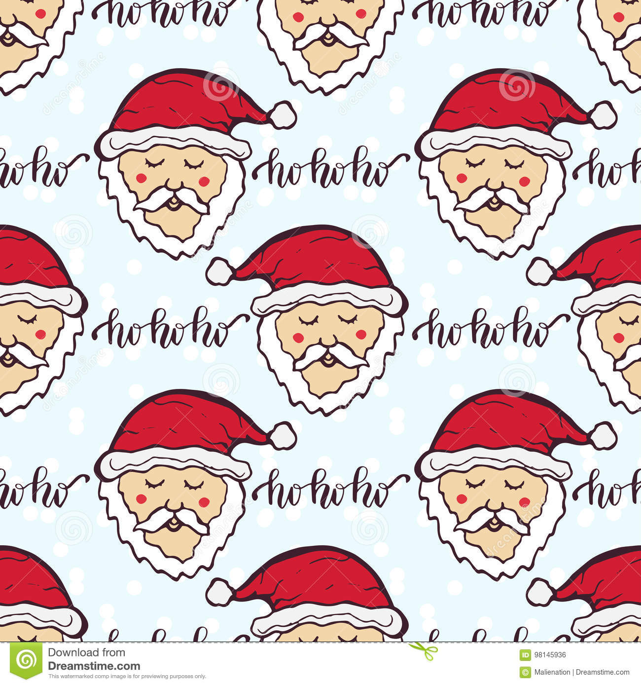 new year pattern with funny santa christmas wrapping paper cute seamless background - Funny Christmas Wrapping Paper