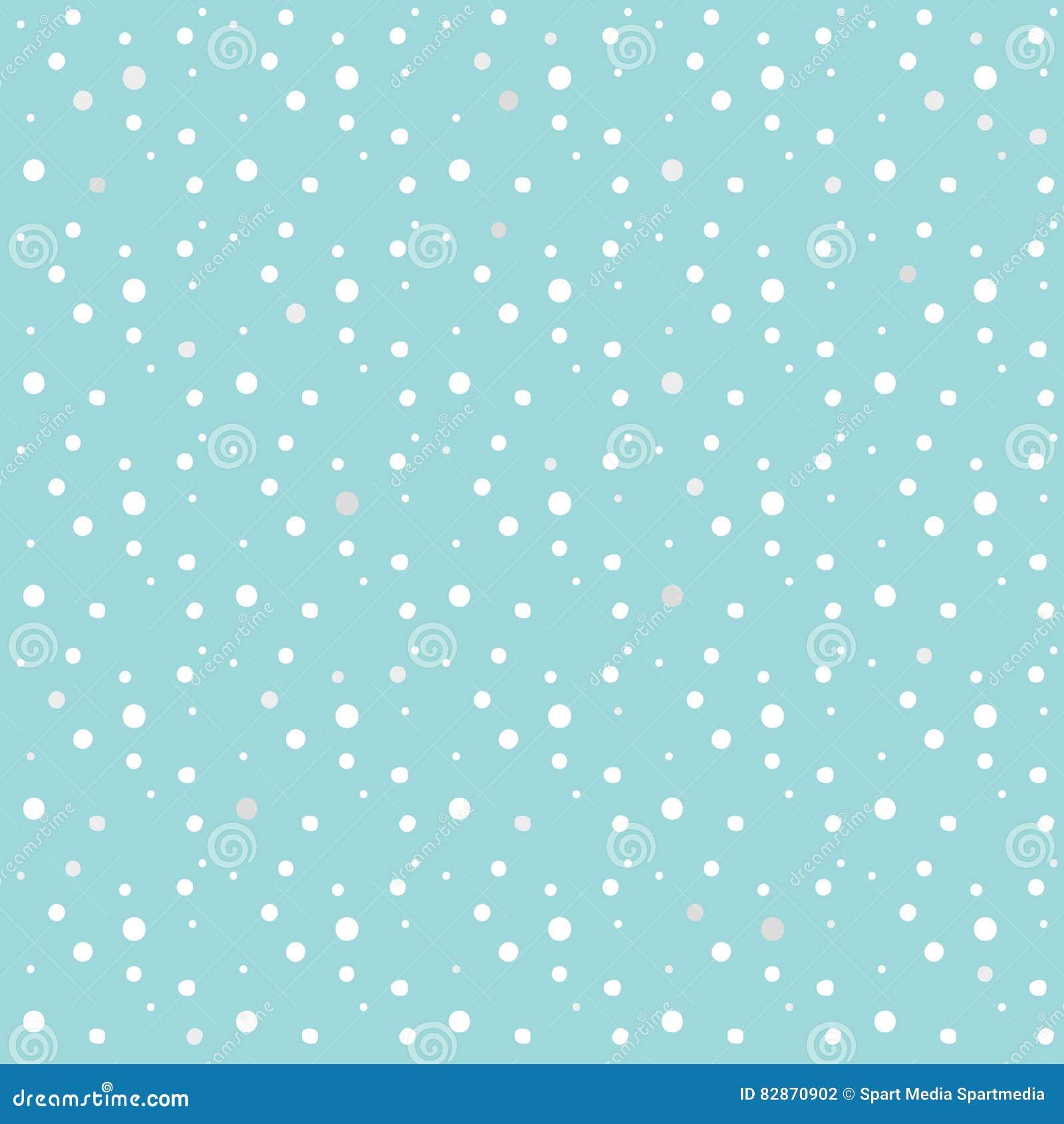 Snowfall Snow Snowflakes New Year 2020 Pattern Stock Vector