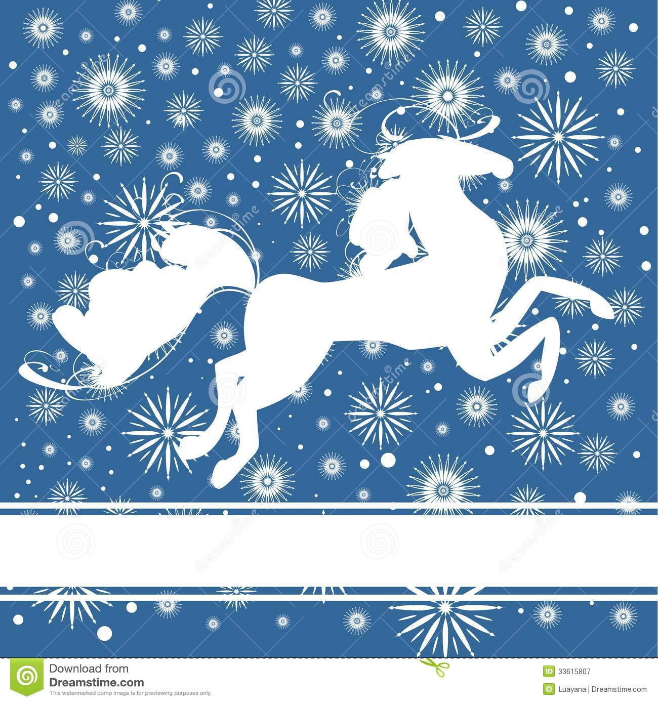 New Year Postcard With Horse Royalty Free Stock Photography ...