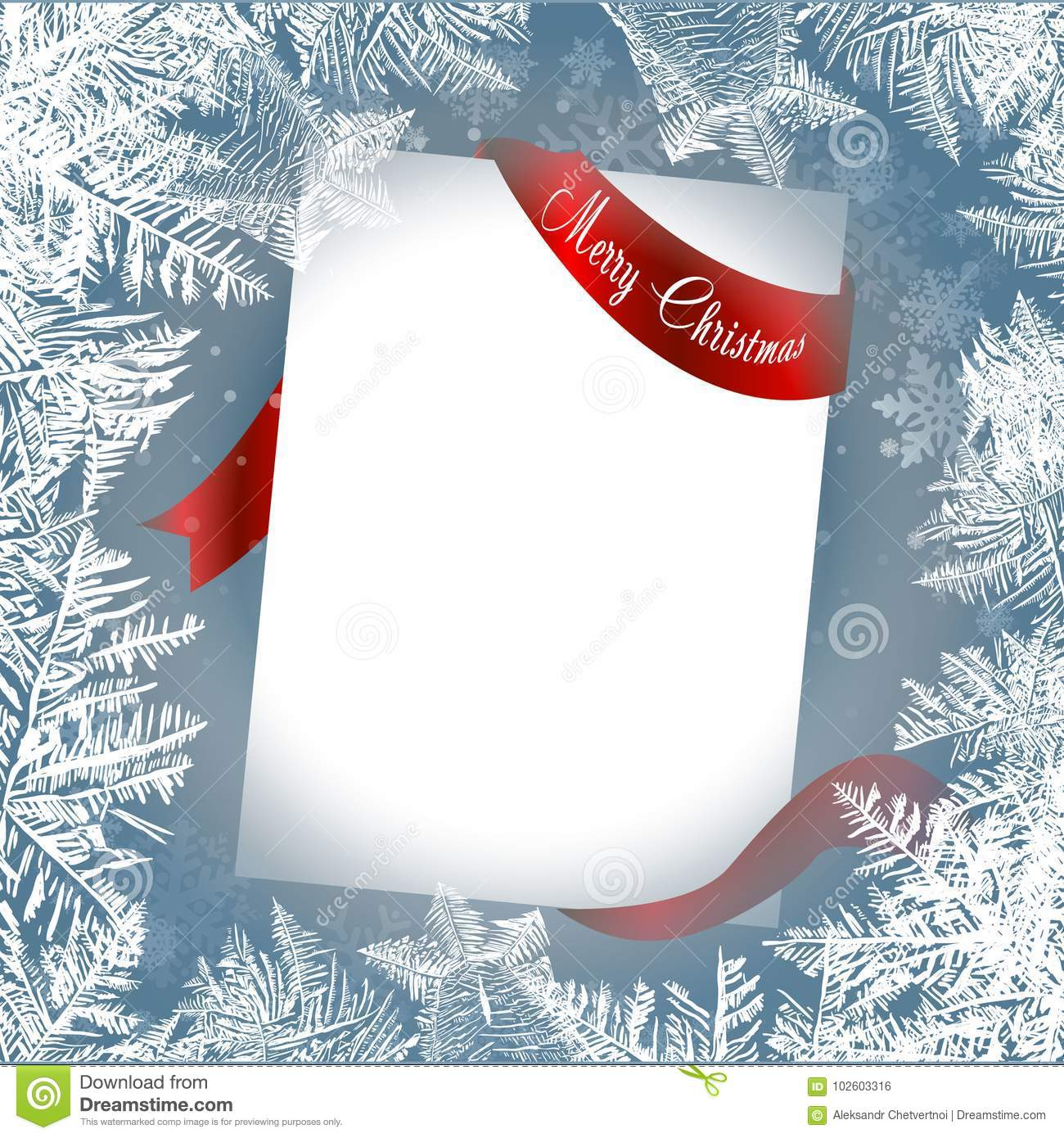 2018 new year on ice frosted background new year paper with red ribbons motivation concept a letter to santa claus template