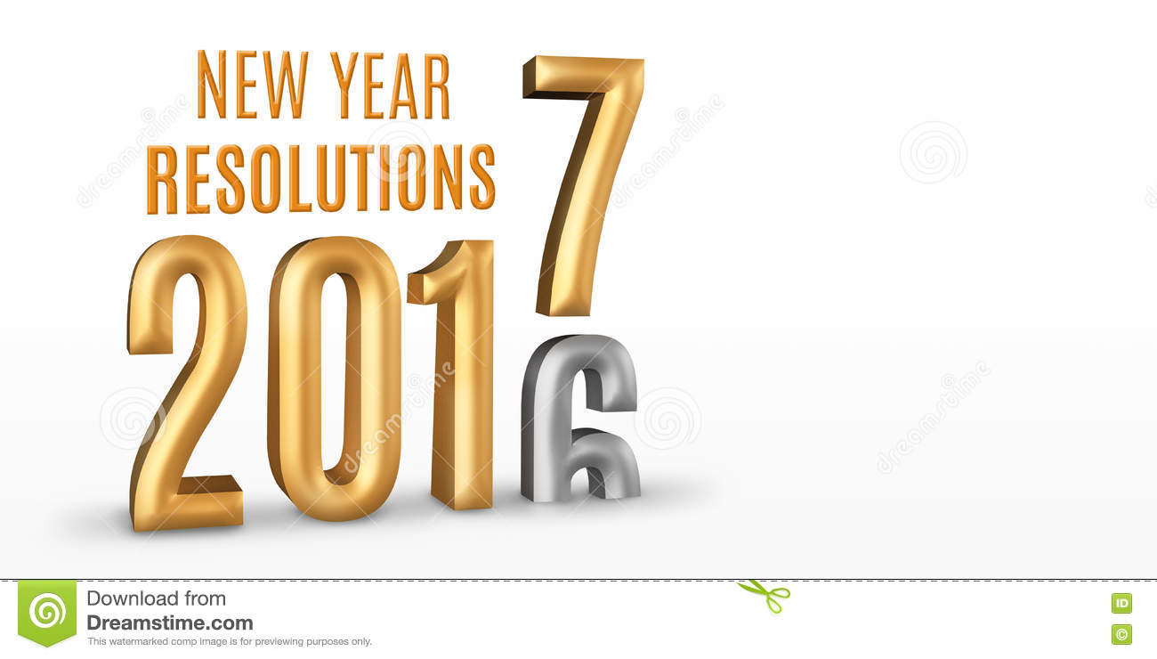 New Year Resolutions 2016 gold number year change to 2017 new year in ...