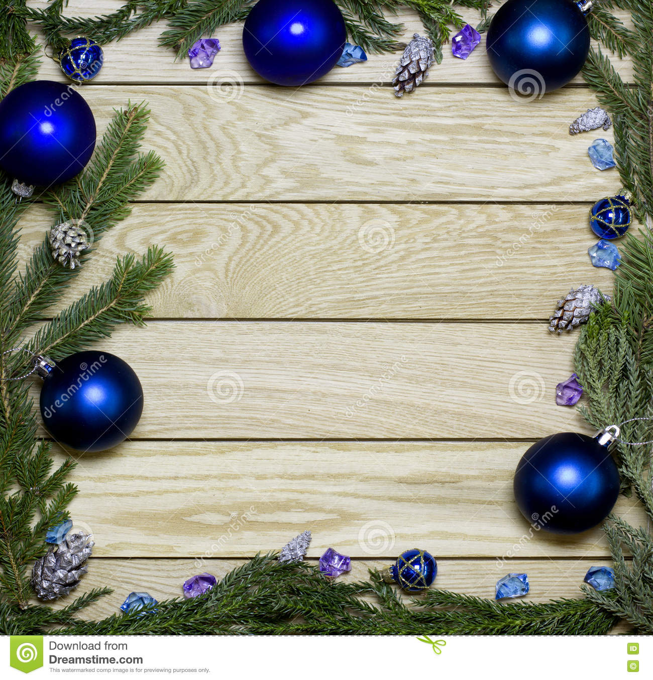 new years border frame christmas wooden background