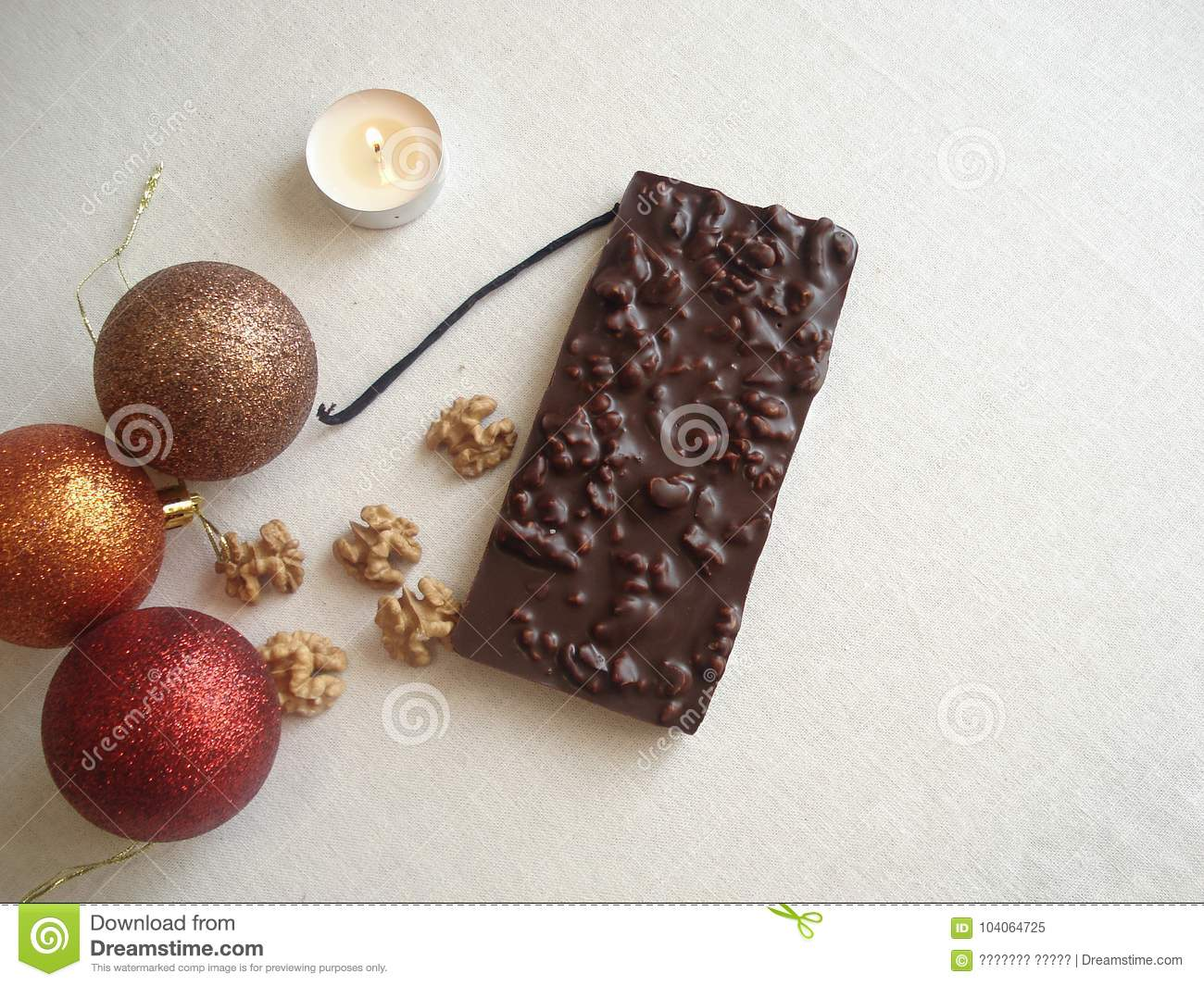 New Year`s Chocolate. A Gift With Your Own Hands. Christmas Treats ...